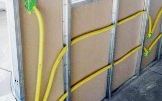 Монтаж скрытой электропроводки под гипсокартон