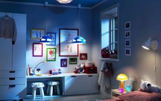 Люстра и другие способы освещения детской комнаты