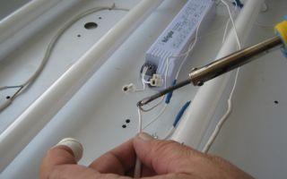 Ремонтируем светильники с люминесцентными лампами