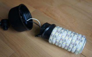 Как сделать простую светодиодную лампу своими руками