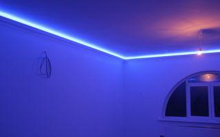 Эффектное освещение комнат светодиодной лентой на потолке